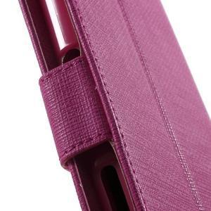 Grid PU kožené pouzdro na Sony Xperia Z5 - rose - 6