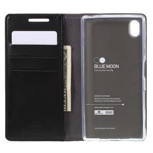 Moon PU kožené pouzdro na Sony Xperia Z5 - černé - 6