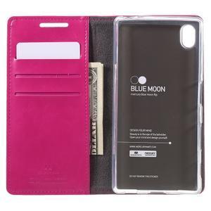 Moon PU kožené pouzdro na Sony Xperia Z5 - rose - 6