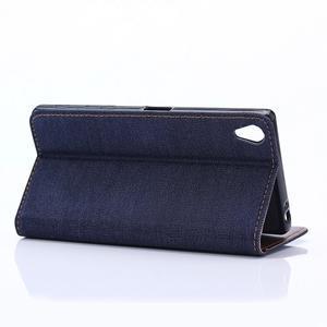 Stylové jeans pouzdro na mobil Sony Xperia Z5 - tmavěmodré - 6