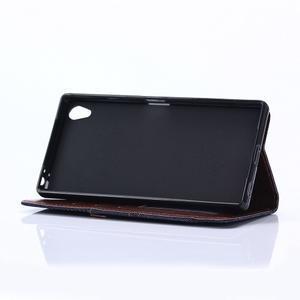 Stylové jeans pouzdro na mobil Sony Xperia Z5 - černomodré - 6