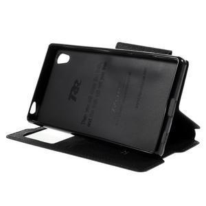 Diary pouzdro s okýnkem na Sony Xperia Z5 - černé - 6