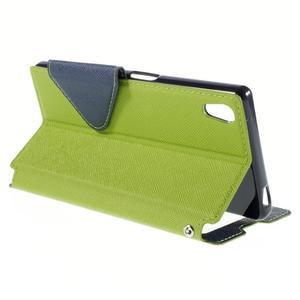 Diary pouzdro s okýnkem na Sony Xperia Z5 - zelené - 6