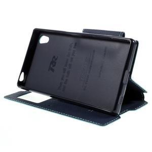 Diary pouzdro s okýnkem na Sony Xperia Z5 - světlemodré - 6