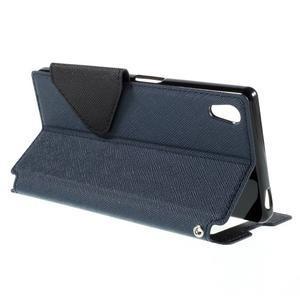 Diary pouzdro s okýnkem na Sony Xperia Z5 - tmavěmodré - 6