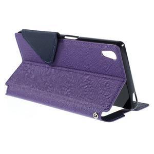 Diary pouzdro s okýnkem na Sony Xperia Z5 - fialové - 6