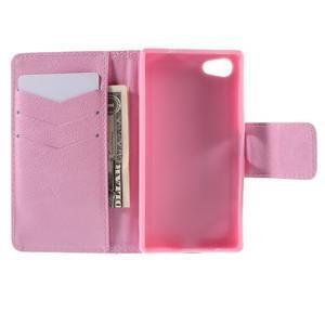 Diary peněženkové pouzdro na Sony Xperia Z5 Compact - ptáčci - 6