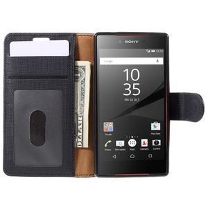Grid peněženkové pouzdro na mobil Sony Xperia Z5 Compact - černé - 6