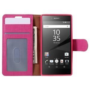 Grid peněženkové pouzdro na mobil Sony Xperia Z5 Compact - rose - 6