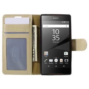 Grid peněženkové pouzdro na mobil Sony Xperia Z5 Compact - champagne - 6