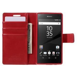 Bluemoon PU kožené pouzdro na Sony Xperia Z5 Compact - červené - 6