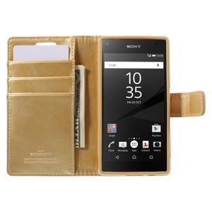 Bluemoon PU kožené pouzdro na Sony Xperia Z5 Compact - zlaté - 6