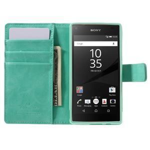 Bluemoon PU kožené pouzdro na Sony Xperia Z5 Compact - cyan - 6