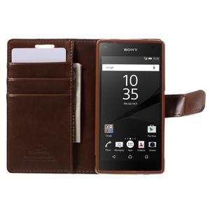 Bluemoon PU kožené pouzdro na Sony Xperia Z5 Compact - hnědé - 6