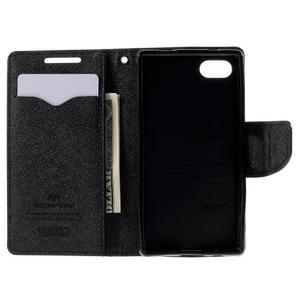Fancy PU kožené pouzdro na Sony Xperia Z5 Compact - černé - 6