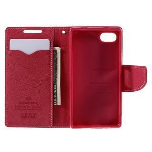 Fancy PU kožené pouzdro na Sony Xperia Z5 Compact - růžové - 6