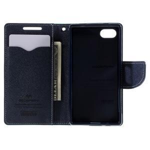Fancy PU kožené pouzdro na Sony Xperia Z5 Compact - cyan - 6