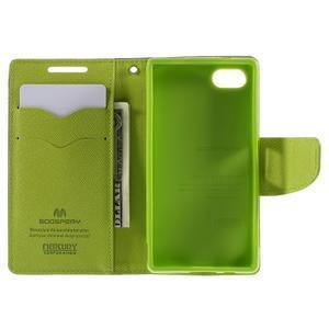 Fancy PU kožené pouzdro na Sony Xperia Z5 Compact - tmavěmodré - 6