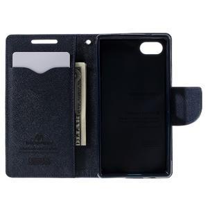 Fancy PU kožené pouzdro na Sony Xperia Z5 Compact - fialové - 6