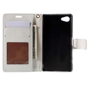 Croco peněženkové pouzdro na Sony Xperia Z5 Compact - bílé - 6