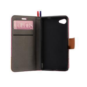 Cloth peněženkové pouzdro na mobil Sony Xperia Z5 Compact - růžové - 6