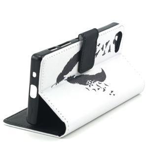 Peněženkové pouzdro na mobil Sony Xperia Z5 Compact - ptačí peříčka - 6