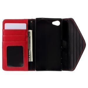 Stylové peněženkové pouzdro na Sony Xperia Z5 Compact - červené - 6