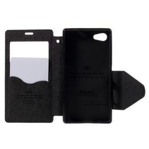 Pouzdro s okýnkem na Sony Xperia Z5 Compact - černé - 6