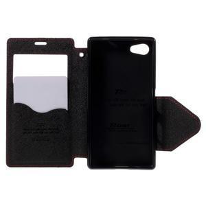 Pouzdro s okýnkem na Sony Xperia Z5 Compact - červené - 6