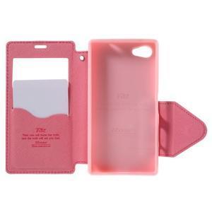 Pouzdro s okýnkem na Sony Xperia Z5 Compact - rose - 6