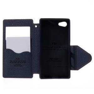 Pouzdro s okýnkem na Sony Xperia Z5 Compact - oranžové - 6