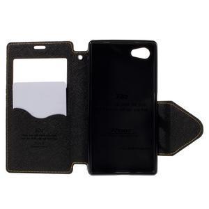 Pouzdro s okýnkem na Sony Xperia Z5 Compact - žluté - 6