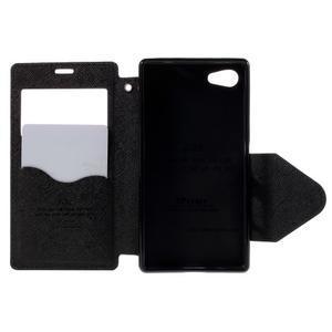 Pouzdro s okýnkem na Sony Xperia Z5 Compact - tmavěmodré - 6