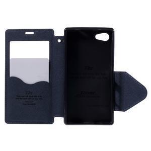 Pouzdro s okýnkem na Sony Xperia Z5 Compact - fialové - 6