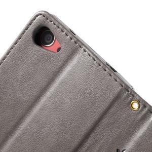 Butterfly peněženkové pouzdro na Sony Xperia Z5 Compact - šedé - 6