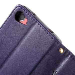 Butterfly peněženkové pouzdro na Sony Xperia Z5 Compact - fialové - 6