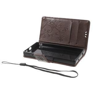 Butterfly peněženkové pouzdro na Sony Xperia Z5 Compact - coffee - 6