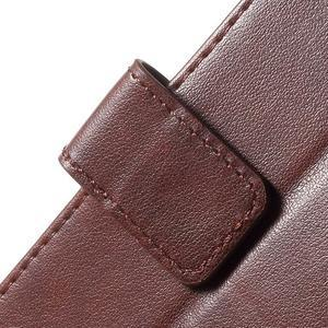 Butterfly peněženkové pouzdro na Sony Xperia Z5 Compact - hnědé - 6