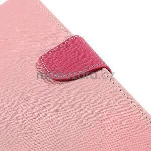 Peněženkové PU kožené pouzdro na Sony Z Ultra - růžové - 6