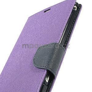 Peněženkové PU kožené pouzdro na Sony Z Ultra - fialové - 6