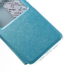 Cross peněženkové pouzdro s oknem na Xiaomi Mi5 - světlemodré - 6
