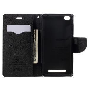 Diary PU kožené pouzdro na mobil Xiaomi Redmi 3 - černé - 6