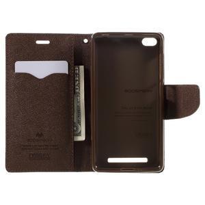 Diary PU kožené pouzdro na mobil Xiaomi Redmi 3 - černé/hnědé - 6