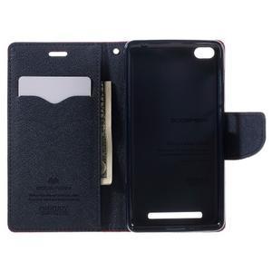 Diary PU kožené pouzdro na mobil Xiaomi Redmi 3 - rose - 6