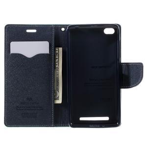 Diary PU kožené pouzdro na mobil Xiaomi Redmi 3 - azurové - 6