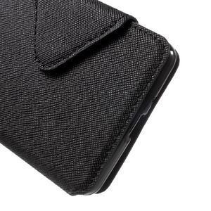 Diary view peněženkové pouzdro na Xiaomi Redmi 3 - černé - 6