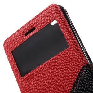 Diary view peněženkové pouzdro na Xiaomi Redmi 3 - červené - 6