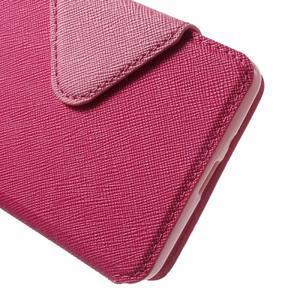Diary view peněženkové pouzdro na Xiaomi Redmi 3 - rose - 6