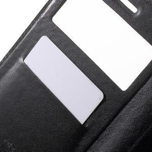View PU kožené pouzdro s okýnkem na Xiaomi Redmi Note 2 - černé - 6
