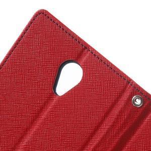 Goos PU kožené pouzdro na Xiaomi Redmi Note 2 - červené - 6